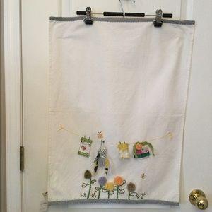 Anthropologie Embroided Kim Sole Design Tea Towel